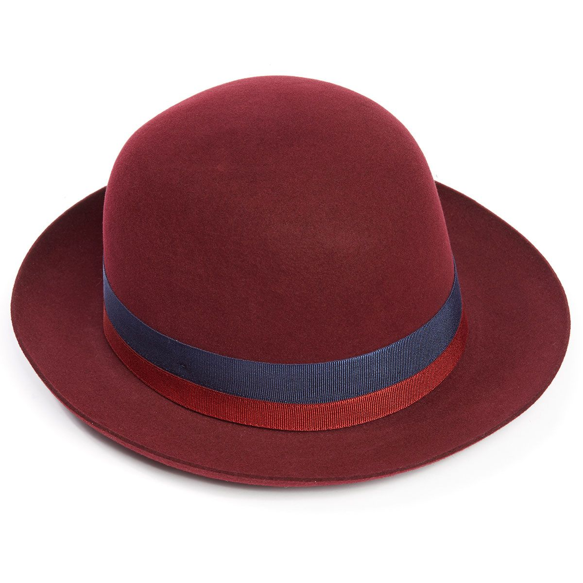 Seasonal Foldaway Fur Felt Trilby Hat in Red Wine - Red Wine in Size 60cm