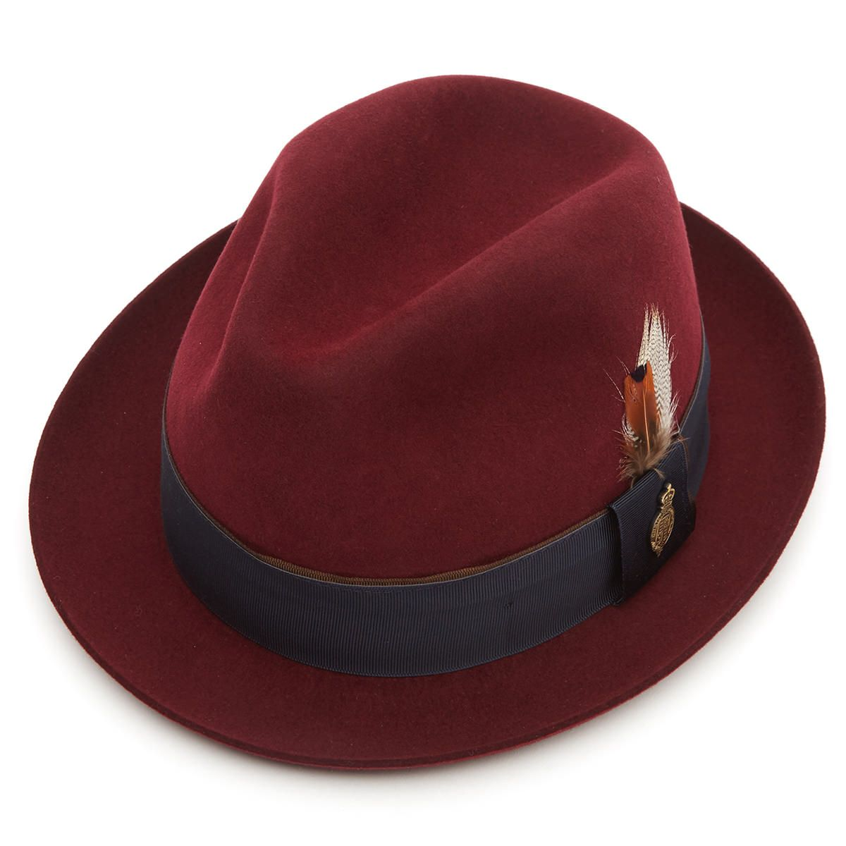 Finchley Fur Felt Trilby Hat Red Wine 55