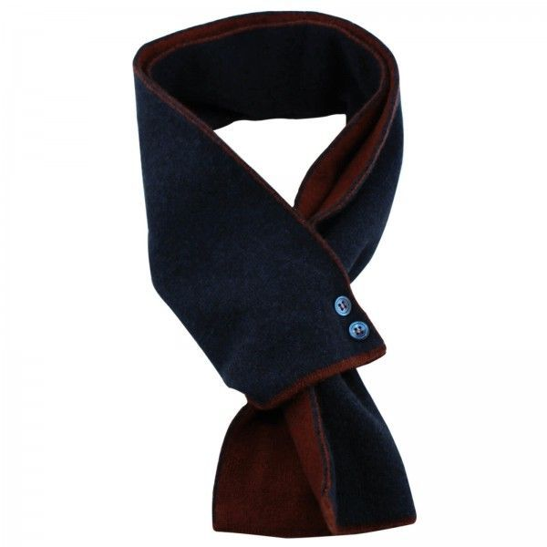 Christys X Diverso Navy & Rust Cashmere Mini Scarf