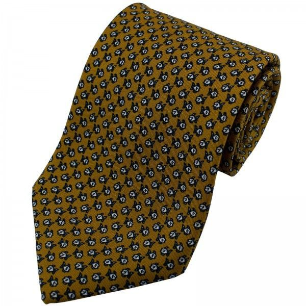 Pure Silk Fish Print Tie