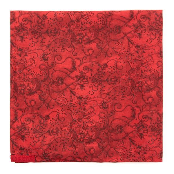 Scarlet Hedgerow Pocket Square