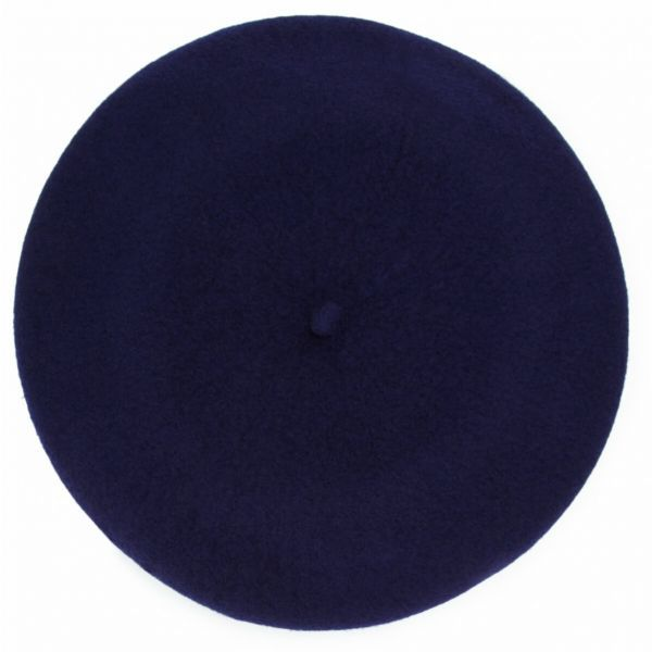 Christys' Wool Beret-Navy-One-Size