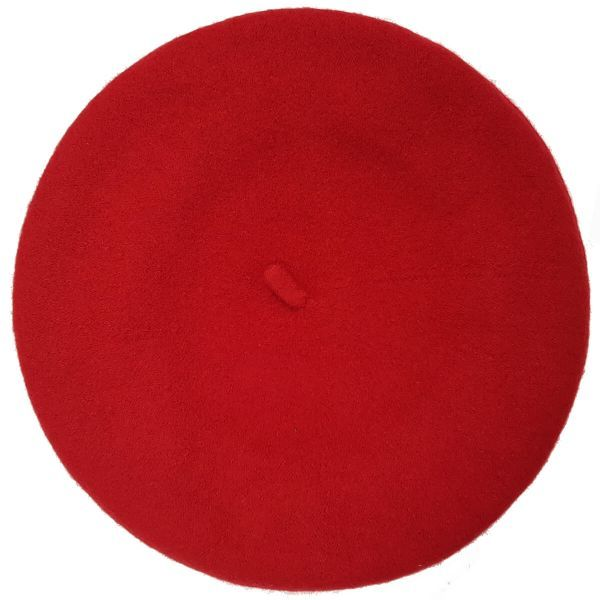 Christys' Wool Beret-Red-One-Size