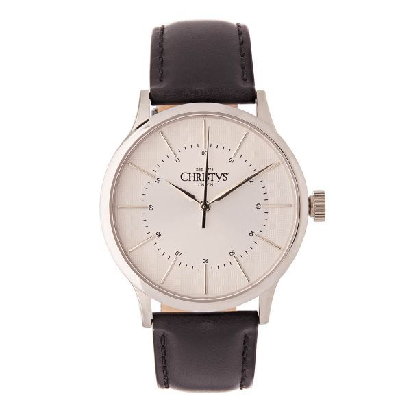 Christys Classic Compton Watch - Silver ~ Black Band