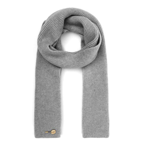Ribbed Cashmere Scarf - Grey