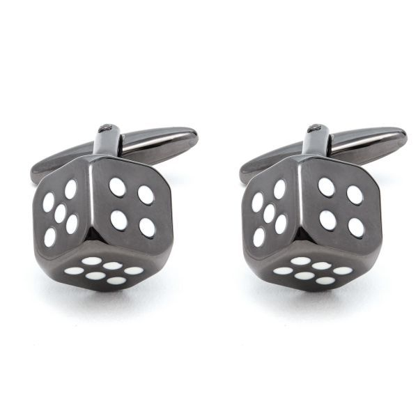 Gun Metal Dice Cufflinks