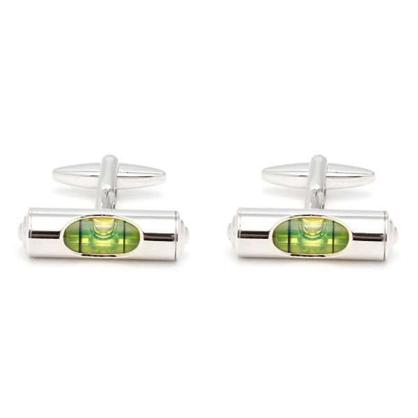 Working Spirit Level Cufflinks
