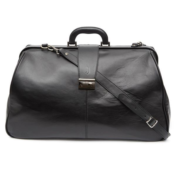 Official Juventus Leather Travel Bag with JV Tweed lining