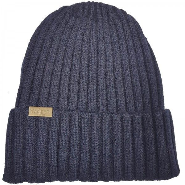 Christys Wool Blend Beanie Hat - Navy