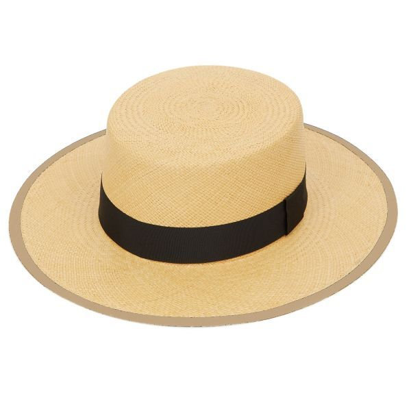 Camila Wide Brim Panama Hat - Natural