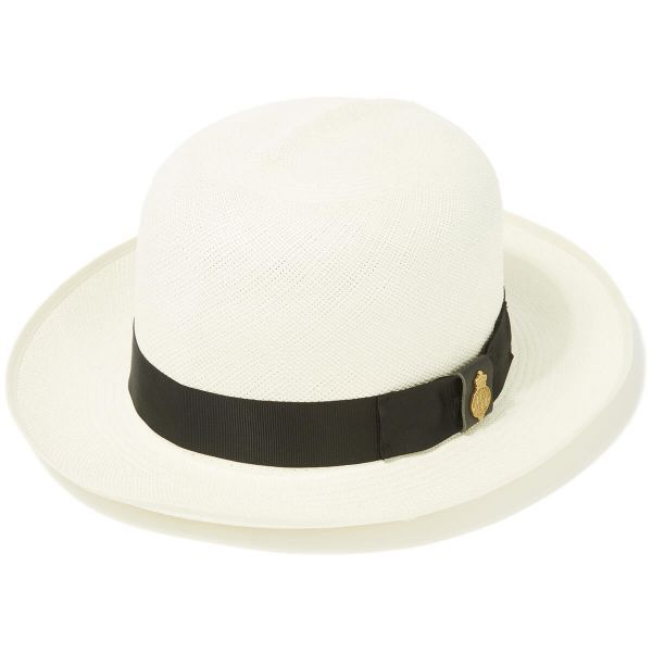 Superfine Folder Panama Hat With Black Band & Cream Binding
