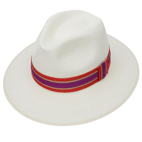 Harper Superfine Down Brim Panama Hat With Queen Silk Band