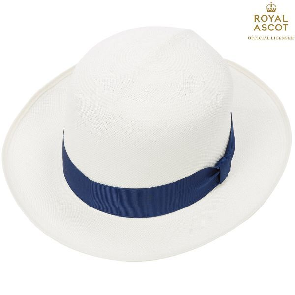 Thomas Superfine Folder Panama Hat With Navy Band