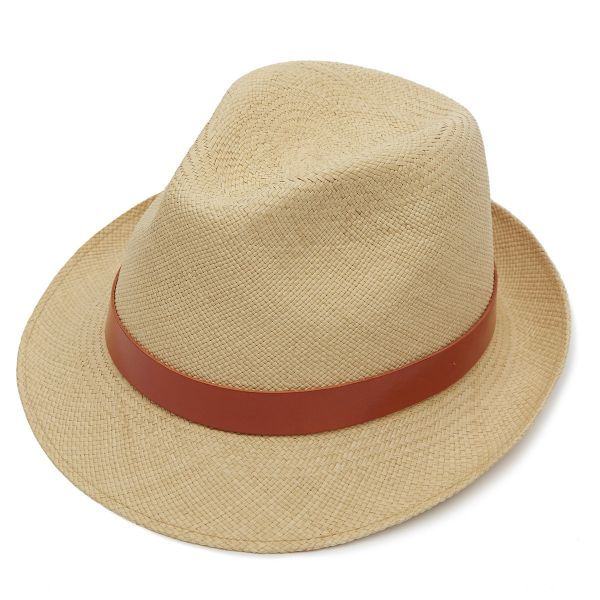 Hoxton Snap Brim Panama Hat - Natural