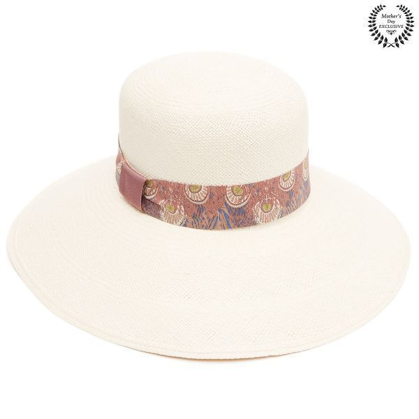 The Lilac Panama Hat With Ribbon Band