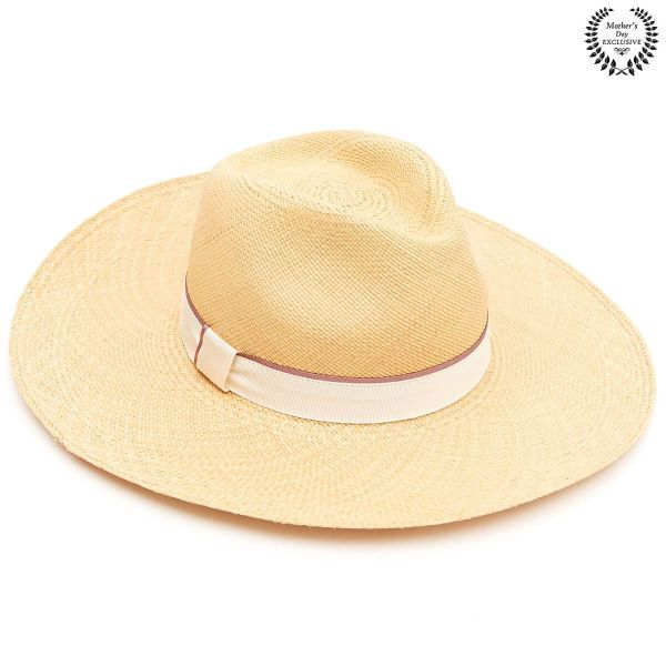 The Peony Wide Brim Panama  - Natural