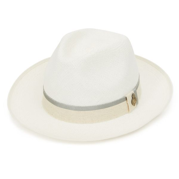 Classic Preset Panama Hat with Grey Zoe band - Natural