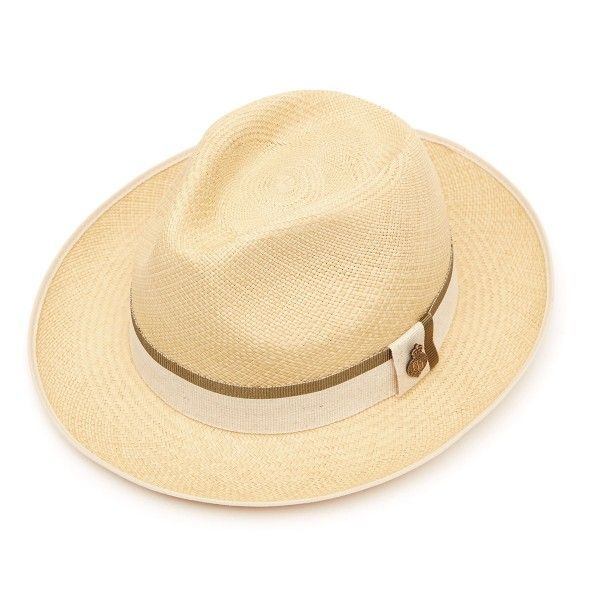 Classic Preset Panama Hat with Khaki Zoe band - Natural