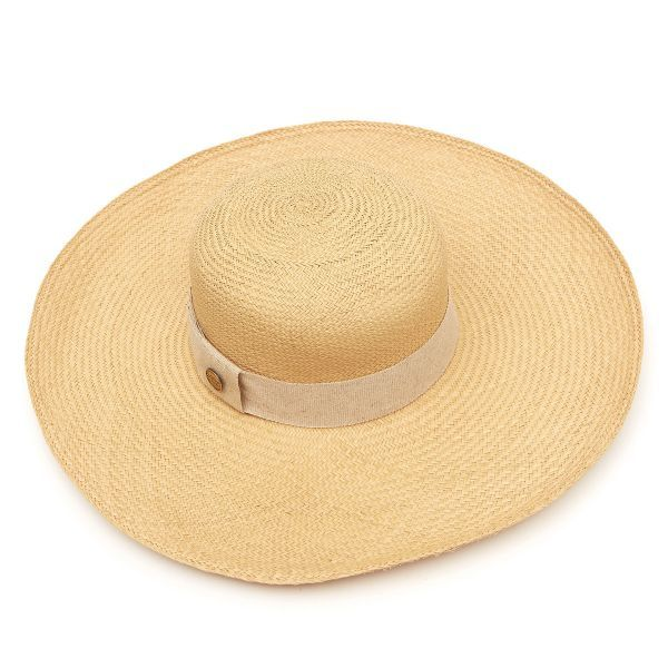 Cuenca Eddie Wide Brim Panama Hat - Natural
