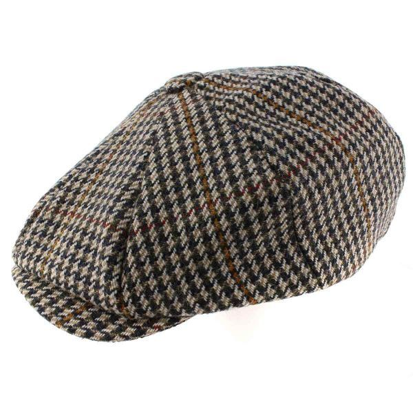 8 Piece Baker Boy Z571 Tweed Flat Cap