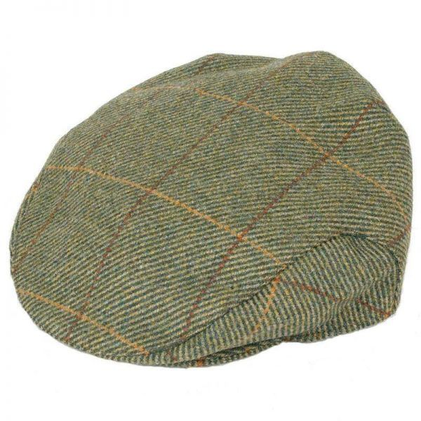 Balmoral Tweed Cap in pattern Z132 -Deep Back