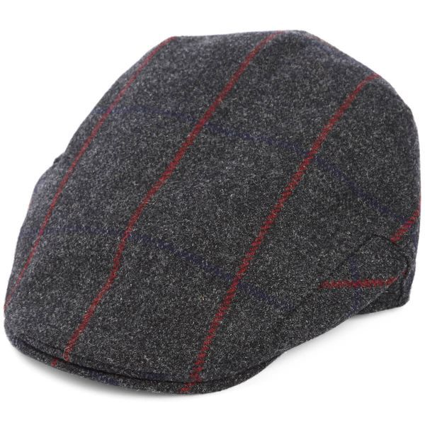 Balmoral Tweed Flat Cap - Charcoal