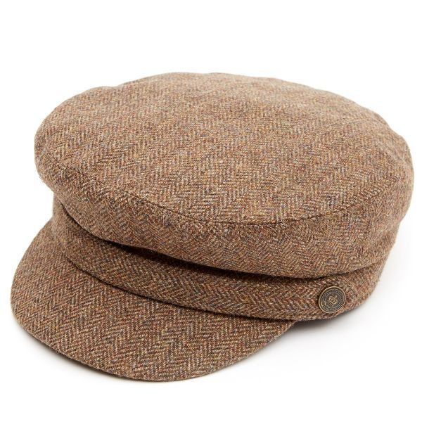 Breton Brown Herringbone Tweed Z524 Cap
