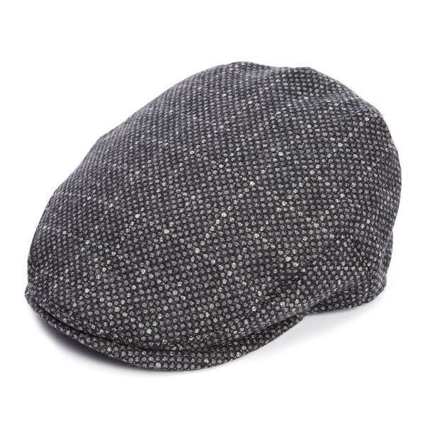 The Jude Flat Cap - Grey  Reflective Tweed