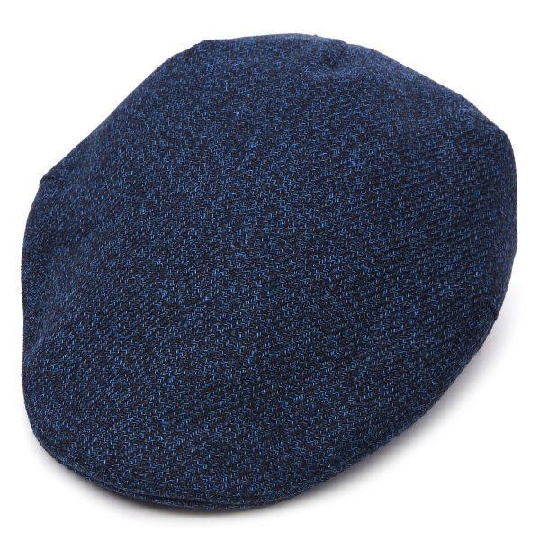 Balmoral Linen Flat Cap - Blue