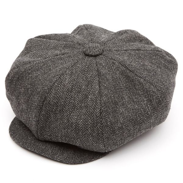 8 Piece Oversized Tweed (Z537) Baker Boy Flat Cap
