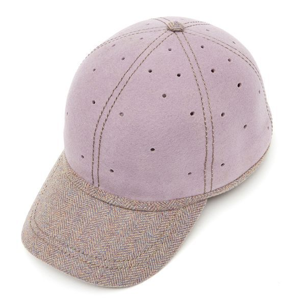 British Ball Cap Tweed Peak  -