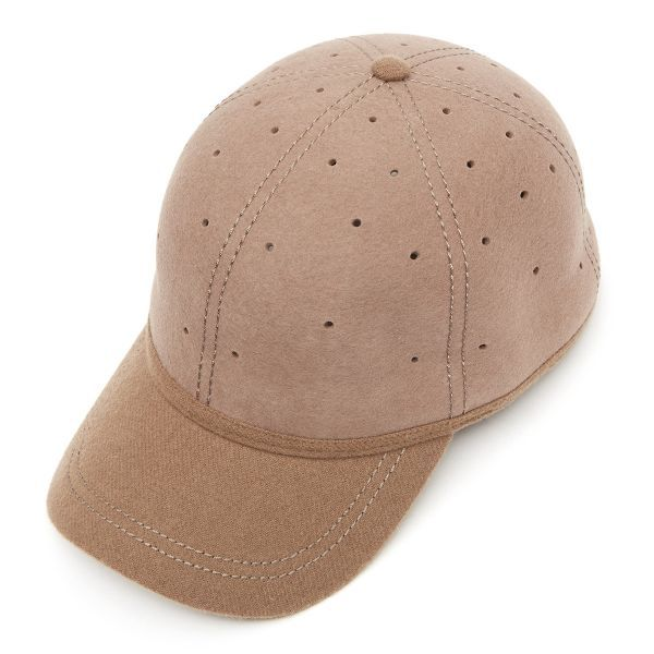 British Ball Cap Lambswool Peak - Earth