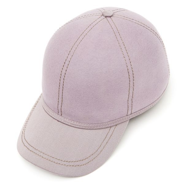 British Ball Cap Satin Wool Peak -