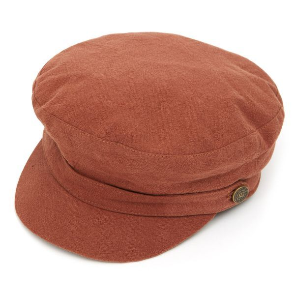 Breton Heavy Linen Cap - Tobacco