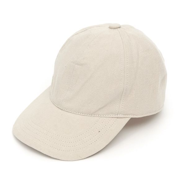 Baseball Cap Heavy Linen - Cream