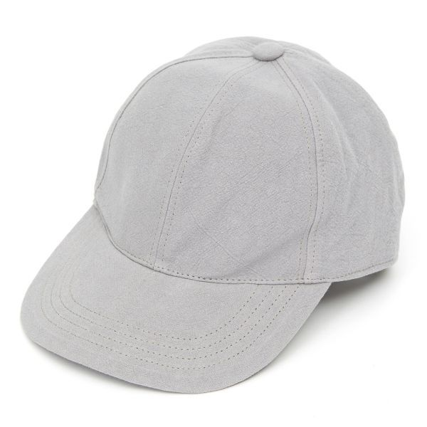 Baseball Cap Heavy Linen - Grey