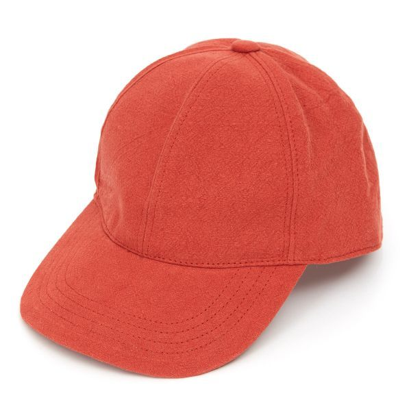 Baseball Cap Heavy Linen - Red