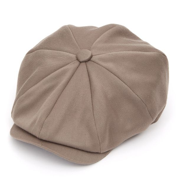 Ellis 8 Piece Satin Wool Flat Cap - Earth
