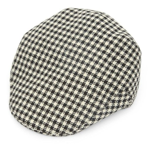 Official Juventus FC Balmoral 'Dogtooth' Pattern Tweed Flat Cap