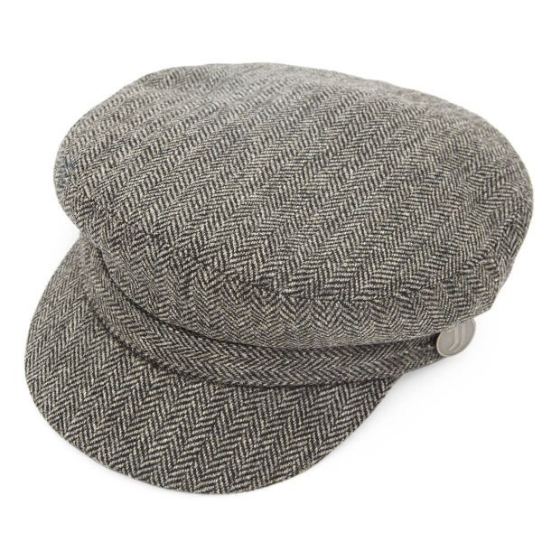 Official Juventus FC Grey Herringbone Tweed Breton Cap
