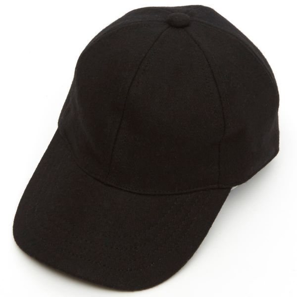 Adjustable Melton Wool Baseball Cap