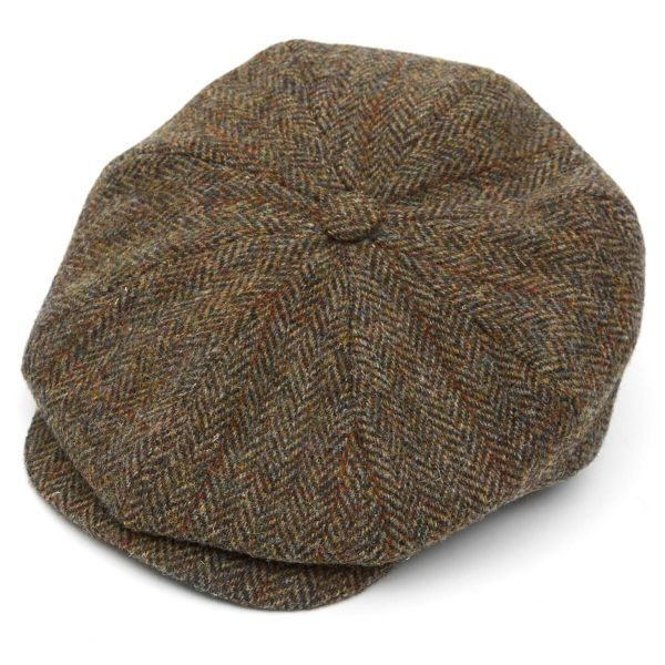Harris Tweed 8 Piece Baker Boy Flat Cap