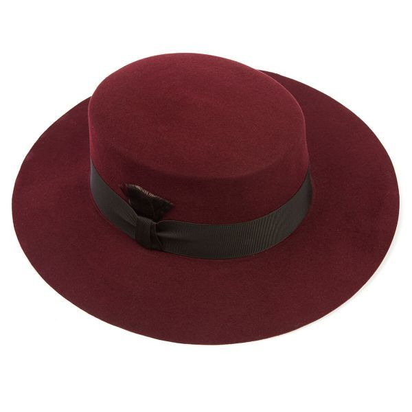 Clementine Ladies Fur Felt Fedora wide brimmed hat