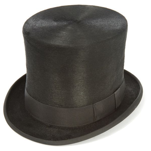 Luxury Black Fur Felt Melusine TALLER TOP HAT