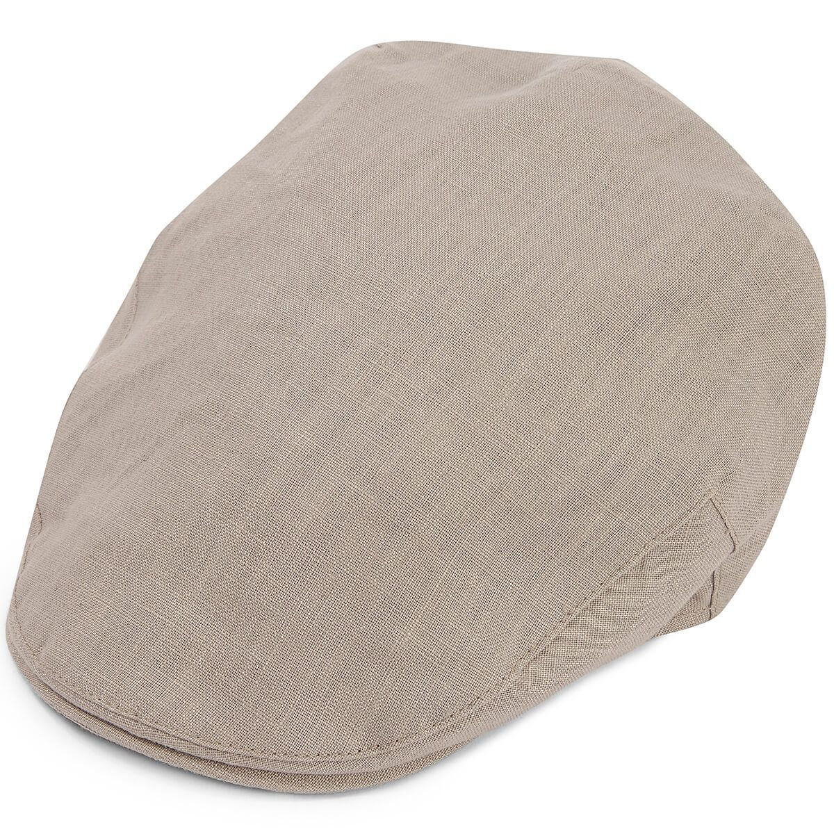 Balmoral Linen Flat Cap - Cloud Grey
