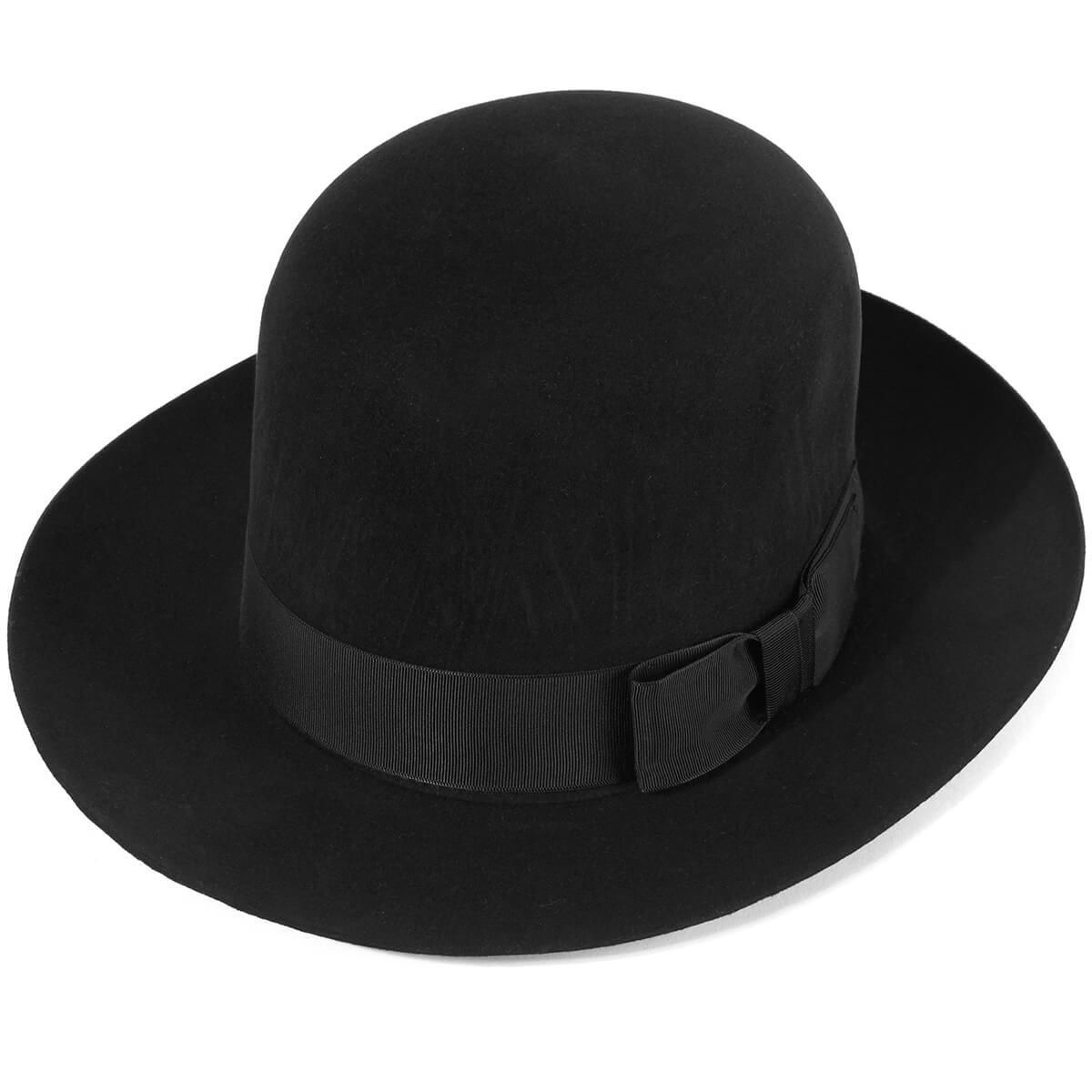 100/% Fur Felt The Poet Fedora Hat in Black by Christys/' of London UK Made