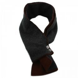 Christys X Diverso Charcoal & Rust Cashmere Mini Scarf