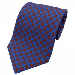 Pure Silk Penny Farthing Print Tie