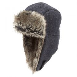 Trapper Tweed With Shearling Ears Z539