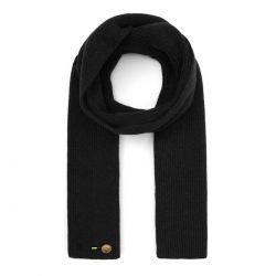 Ribbed Cashmere Scarf - Black